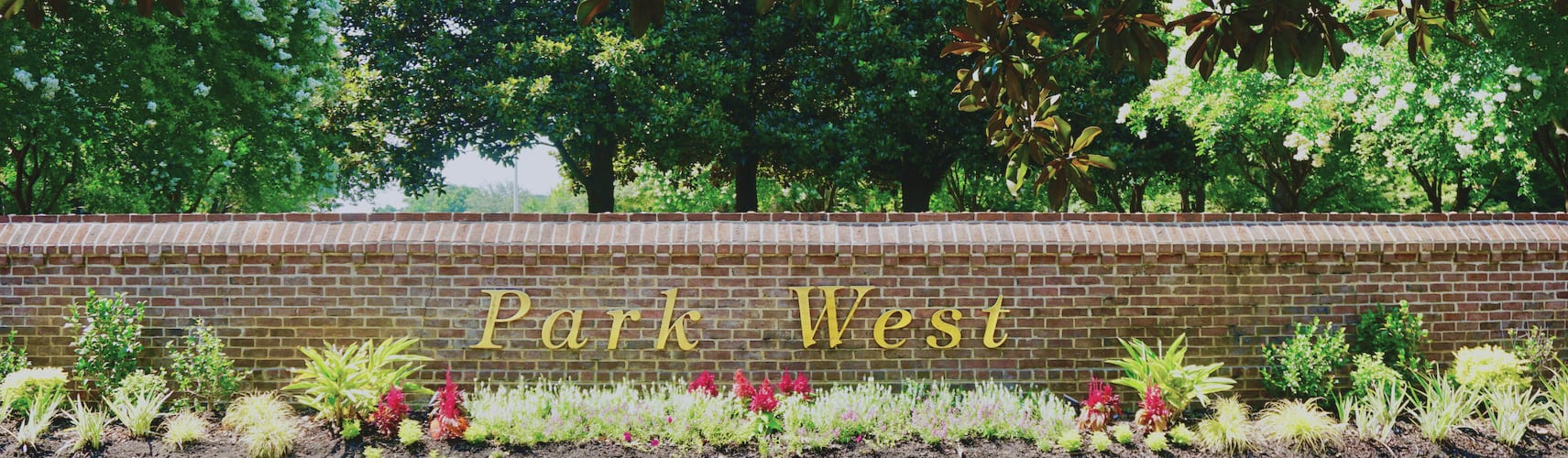 Park West brick sign