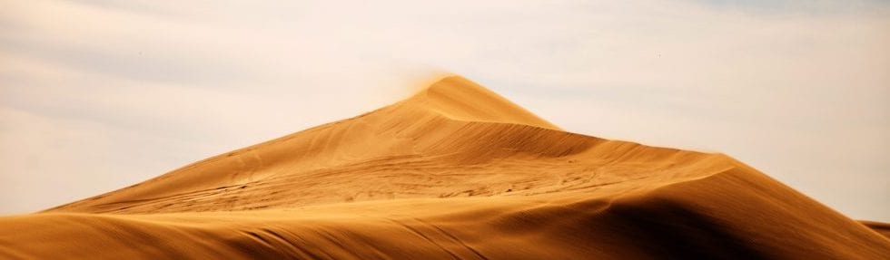 Sand dune in the desert