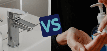 Hand Sanitizer vs Washing